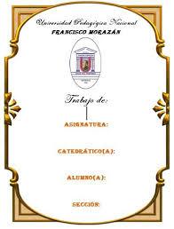 Caratulas Para Trabajos De Universidad Imagui Hola