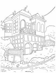 Small Picture Coloring Pages Houses Pages Adults Houses House Bestofcoloringcom