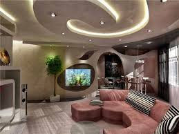 Home Design Bee  Modern Unique False Ceiling For Contemporary Living Room Ceiling Interior Design Photos