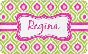 ogee ikat bath mat personalized