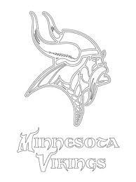 Small Picture Minnesota Vikings Logo coloring page Free Printable Coloring Pages