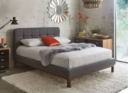 dark grey upholstered bed. Wonderful Upholstered Dillon Dark Grey Fabric Upholstered Bed Frame To B