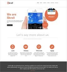Single Page Website Template Interesting 28 One Page Website Themes Templates Free Premium Templates