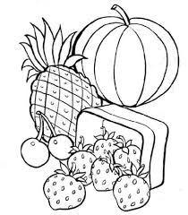 Small Picture Free Printable Food Coloring Pages For Kids With esonme