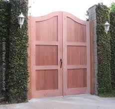 los angeles wood entry gates mediterranean villa style and arched