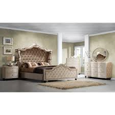 Pc Modern Queen Bedroom Sets Panel Bed Design Modern Rectangular - Palladian bedroom set