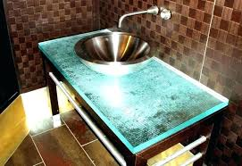 glass vanity countertop glass top vanity bathroom astonishing bathroom vanity tops with integrated sink glass top