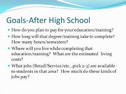 what do students do after high school after high school goals after high school what are your educational