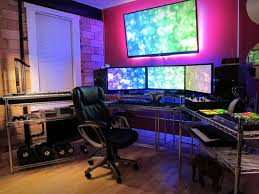 Home Accessories Gorgeous Gaming Setup Ideas For Contemporary Cool Gaming Room Designs