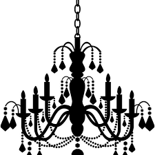 silhouette metal wall decor acrylic black chandelier clipart clipart suggest