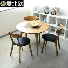 japanese kitchen table round table modern small family solid wood table and chair dining table small
