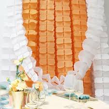 Paper Flower Garlands Hanging Garland Four Leaf Tissue Paper Flower Garland Reusable Party Streamers For Party Wedding Decorations 11 81 Feet 3 6m Each Pack Of 6 Orange