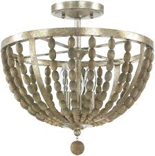 chandelier flush mount capital lighting contemporary bronze with wood beads semi flush flush mount lighting loading