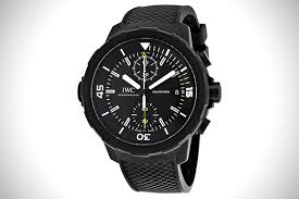 black out 21 best all black watches for men hiconsumption iwc aquatimer galapagos islands chronograph