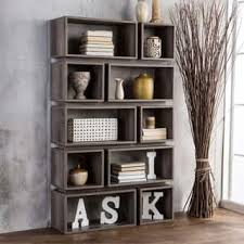 Furniture Of America Cassidy Tiered Distressed Grey 10Shelf Open Bookcase