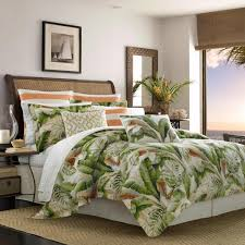 tommy bahama palmiers 3 piece green duvet full queen cover set ushsfq1034289