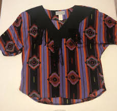 Vtg 90's Lilia Smith Southwestern Women's Blouse Western Shirt Medium  Tassels M | eBay