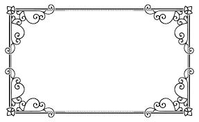 rectangular border Clipart