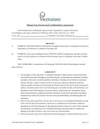 Mutual Confidentiality Agreement Confidentiality and nondisclosure agreement JI 97