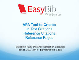Ppt Apa Tool To Create In Text Citations Reference Citations