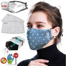 PM2.5 Cotton Black Mouth Mask Anti Dust Mask Activated ... - Vova