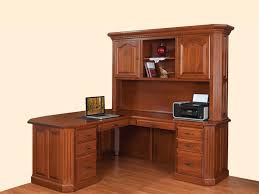 amish fifth avenue executive l desk with hutch