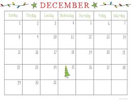 December Calendar Blank December 2018 Calendar Blank