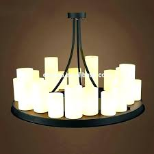 luxury candle chandelier non electric interior home design throughout breathtaking rustic rectangular pillar 49