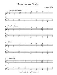 Violin Music Tonalization Studies Arranged In A 4 Part