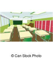 classroom table vector. class for education, board, table and study, blackboard lesson. vector flat classroom a