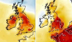 Weather Tree Chart Uk Weather Chart Turns Dark Red As Scorching Heat Engulfs