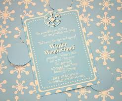 Snowflake Birthday Invitations Winter Wonderland Party Winter Wonderland Invitation