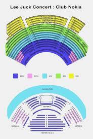 Rare Microsoft Theatre Seating Chart Nokia Theater Seating