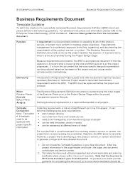 Business Requirement Example Interface Control Document Template Read Examples System Development