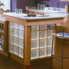 glass block kitchen island