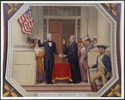 pursuing the presidency andrew jackson papers chief justice john marshall administering the oath of office to andrew jackson on the east portico of the u s capitol 4 1829