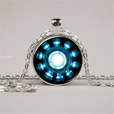 details about iron man arc reactor necklace pendant jewelry glass custom iron man necklace