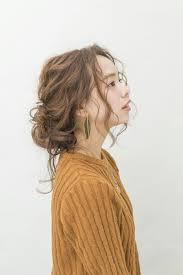 梅田セットサロンriccoカジュアルニットアレンジ ヘアカタログ