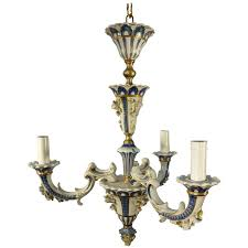antique italian porcelain capodimonte little chandelier for