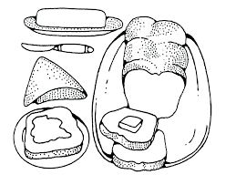 Picnic Food Coloring Pages At Getdrawingscom Free For Personal