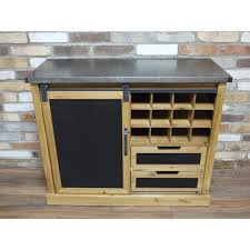 wooden industrial style wine and glass storage cabinet with drawers windsor browne