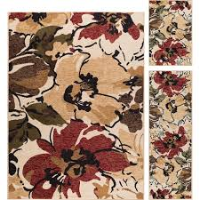 3 piece set red brown and blue area rug laa rc willey furniture