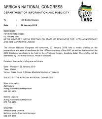 Media Advisory Myanc Media Advisory Media Briefing On State Of Readiness For