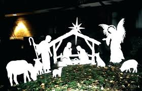 outdoor manger set life nativity sets for at costco with wooden