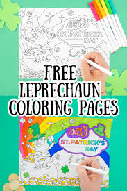 Welcome to the leprechaun coloring pages page! Free Printable Leprechaun Coloring Page Made With Happy