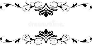 Border Black And White Elegant Card Stock Illustration Illustration Of Abstract 72754679