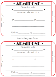 Admit One Ticket Template Free Mesmerizing Free Printable Admission Ticket Template Rjengineeringnet
