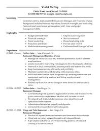 Restaurant Owner Resume Sample Restaurant Owner Resume Sample DiplomaticRegatta 1