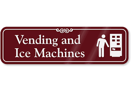 Vending Machine Sign Cool Vending Machine ShowCase™ Wall Sign Ice Machines Wall Sign SKU