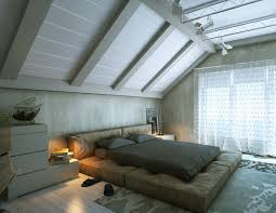 Bedroom:Modern Romantic Attic Bedroom With Track Lighting Idea Awesome Attic  Bedroom Design Ideas